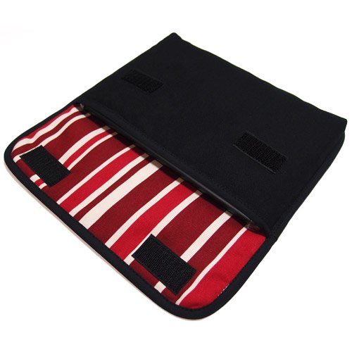 iPad mini4ケース:FILO(ブラック・ボルドーストライプ)