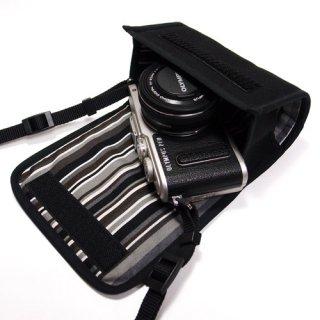 オリンパスペンLite E-PL10ケース / E-PL9ケース --14-42mm EZ レンズキット(ブラック・アルバグレイ)
