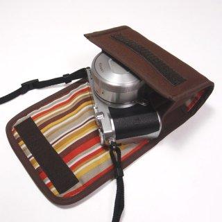 Nikon1 J5ケース- 標準ズームレンズ用(ココア)--カラビナ付