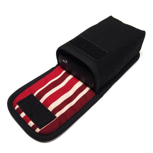 カメラケース デジカメ PowerShot G9 X Mark II /G9 Xケース(ブラック・ボルドーストライプ)