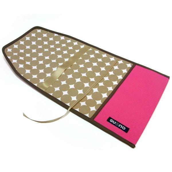 ブックカバー(文庫本サイズ)ピンク+ベージュ