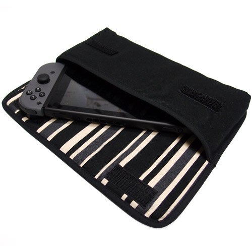 Nintendo Switchケース(ブラック・カーボンストライプ)