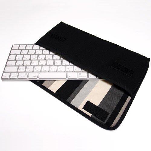 Apple Magicキーボードケース(ブラック・グレーストライプ)