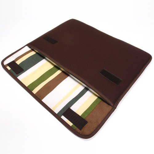 MacBookケース(12インチ):FILO(ココア・カーキストライプ)