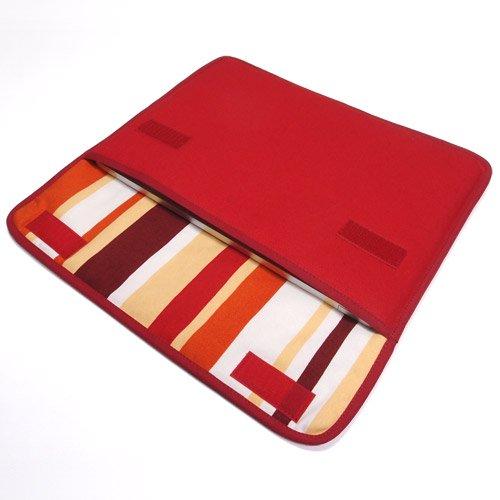 MacBookケース(12インチ):FILO(レッド・オレンジストライプ)