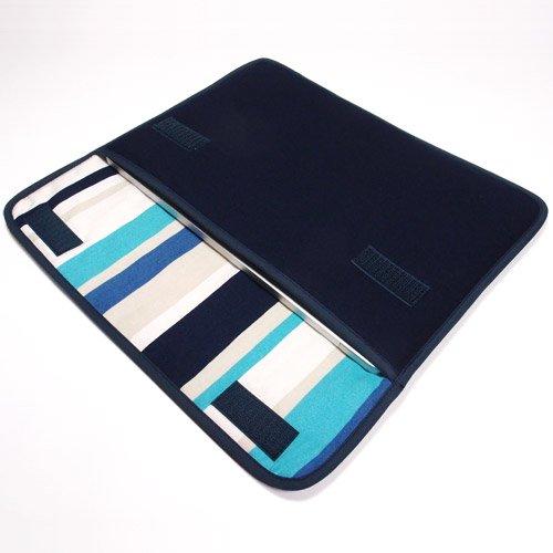 MacBookケース(12インチ):FILO(ネイビー・ストライプ)