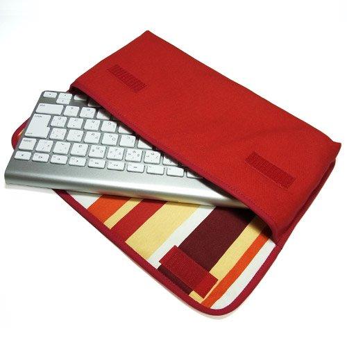 Apple ワイヤレスキーボードケース(レッド・オレンジストライプ)