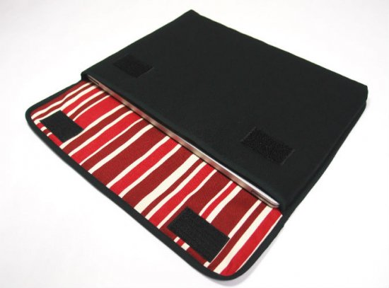 Surface Laptop3 ケース / Surface Laptop2 ケース「FILO」13.5インチ(ブラック・ボルドーストライプ)