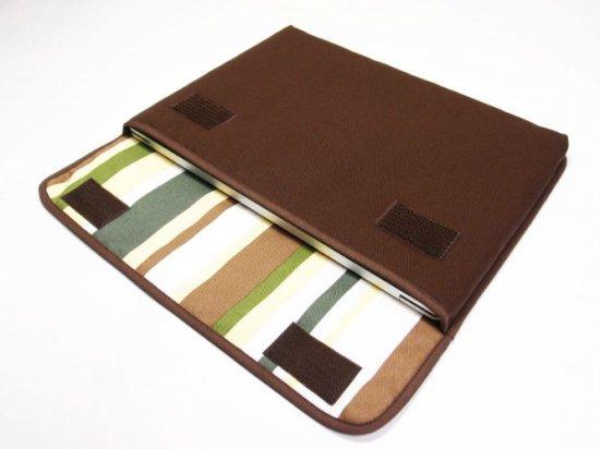 ノートPCケース Surface Laptop2ケース/ Surface Laptopケース「FILO」(ココア・カーキストライプ)