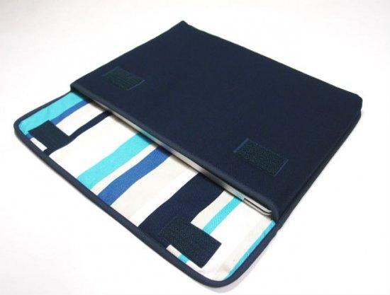 ノートPCケース Surface Laptop2ケース/ Surface Laptopケース「FILO」(ネイビー・ストライプ)