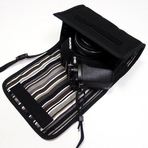 オリンパスOM-D E-M10 MarkIIIケース--14-42mm EZ レンズ用(ブラック・アルバグレイ)