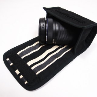 デジカメ レンズケース(ブラック・カーボンストライプ)