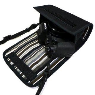 PowerShot G1X MarkIIIケース(ブラック・アルバグレイ) --カラビナ付