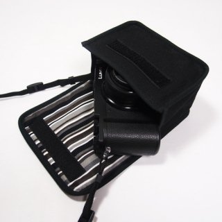 LUMIX GX7 Mark IIIケース(ブラック・アルバグレイ) --標準ズームレンズキット用--カラビナ付