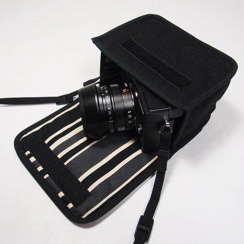 LUMIX GX7 Mark IIIケース(ブラック・カーボンストライプ)--単焦点ライカDGレンズ+レンズフード用