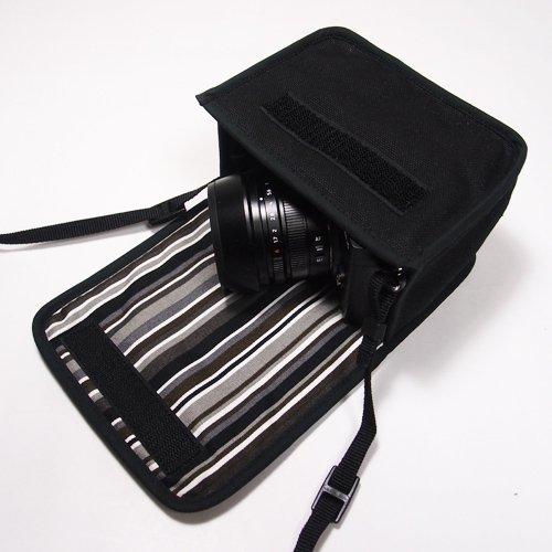 LUMIX GX7 Mark IIIケース(ブラック・アルバグレイ) --単焦点ライカDGレンズ+レンズフード用