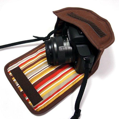 カメラケース ミラーレス キヤノンEOS Kiss Mケース(ココア) -EF-M15-45 IS STM レンズキット用