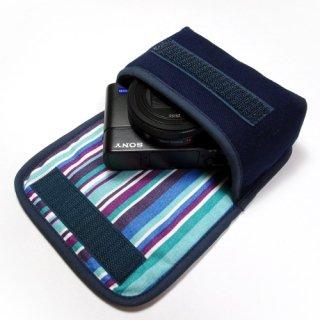 カメラケース デジカメ ソニーサイバーショット DSC-RX100M6ケース(ネイビー・アズーリ)