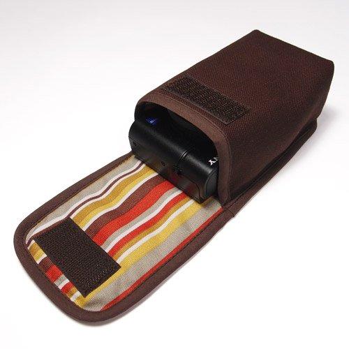 カメラケース デジカメ ソニーサイバーショット DSC-RX100M6ケース--タテ型(ココア)