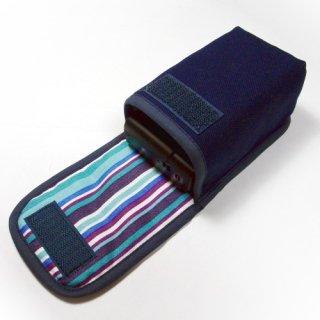 ソニーサイバーショット DSC-RX100M7ケース / RX100M6ケース--タテ型(ネイビー・アズーリ)