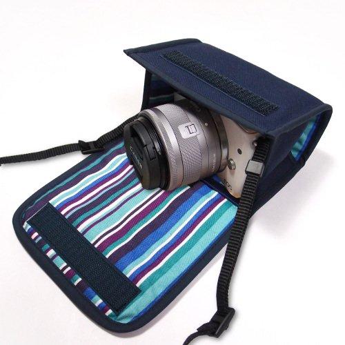 カメラケース ミラーレス キヤノン EOS M100ケース /EOS M10ケース(ネイビー・アズーリ)