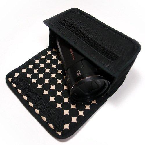デジタルビデオカメラケース WX1Mケース/WZX1Mケース(ブラック・マーブルドット)