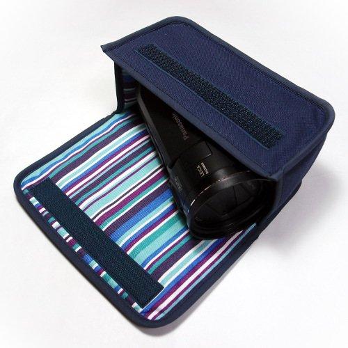 デジタルビデオカメラケース WX1Mケース/WZX1Mケース(ネイビー・アズーリ)
