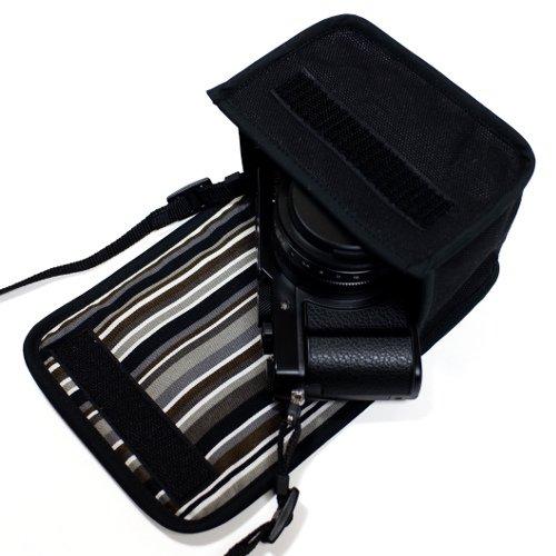 LUMIX LX100M2ケース(ブラック・アルバグレイ)--カラビナ付
