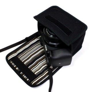 ソニーα6400ケース(ブラック・アルバグレイ)--パワーズームレンズキット用