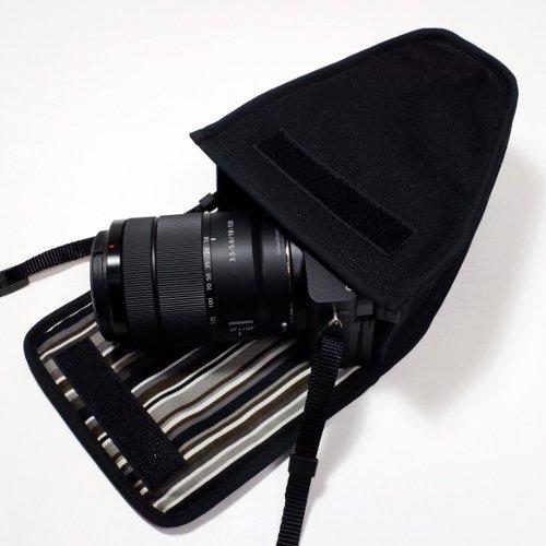 ソニーα6400ケース(ブラック・アルバグレイ)--高倍率ズームレンズキット用