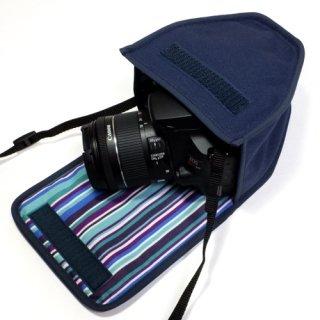 キヤノン EOS Kiss X10ケース(ネイビー・アズーリ)--EF-S18-55 IS STM レンズ用