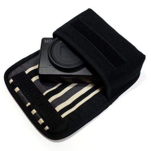 リコーGR3 ケース(ブラック・カーボンストライプ)--ベルトループ付
