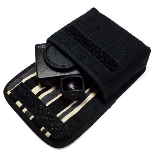 リコーGR3ケース(ブラック・カーボンストライプ)--外部ファインダー用 --ベルトループ付