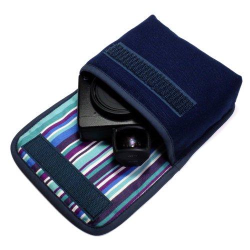 リコーGR3ケース(ネイビー・アズーリ)--外部ファインダー用 --ベルトループ付