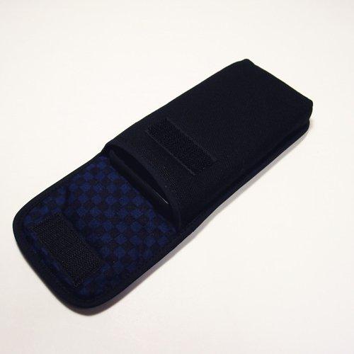 iPhone 11 Pro Maxケース(ブラック・ネイビーチェック)