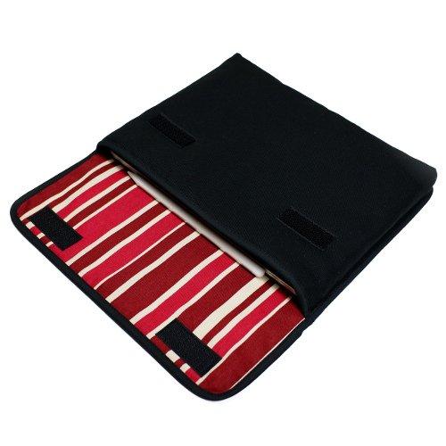 11インチ iPad Proケース・Lサイズ「FILO」(ブラック・ボルドーストライプ)