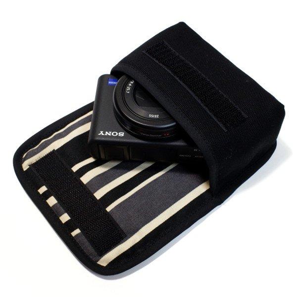 ソニーVLOGCAM ZV-1ケース(ブラック・カーボンストライプ)
