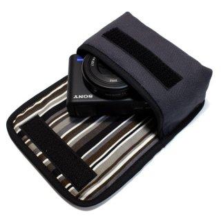 ソニーVLOGCAM ZV-1ケース(チャコール)--ベルトループ付