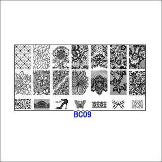 ◆<font color=blue>特別セール!20%OFF </font><br />ホワイトスタンピングプレート #09
