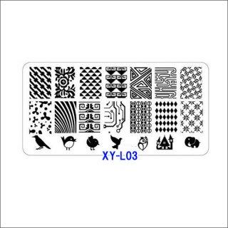 ◆<font color=blue>特別セール!20%OFF </font><br />ホワイトスタンピングプレート XYL03