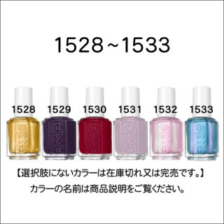 <img class='new_mark_img1' src='https://img.shop-pro.jp/img/new/icons15.gif' style='border:none;display:inline;margin:0px;padding:0px;width:auto;' />11/10入荷!<br />●essie エッシー 1528-1533番