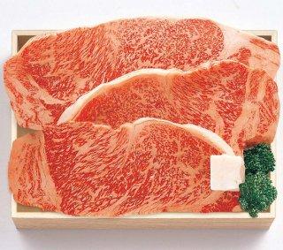 国内産 黒毛和牛 ロースステーキ肉(送料込)  TRT-100B ロース525g(3枚)
