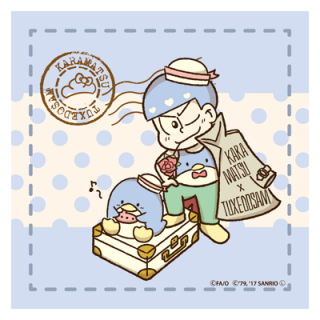 <img class='new_mark_img1' src='//img.shop-pro.jp/img/new/icons11.gif' style='border:none;display:inline;margin:0px;padding:0px;width:auto;' />おそ松さん×Sanrio Characters マイクロファイバー カラ松×タキシードサム 旅立ちver