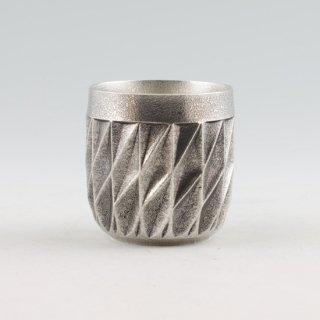 錫 切子シリーズ ダイヤグラス イブシ加工 黒 250ml 商品番号:94A-1/名入れ・マーク入れ 不可