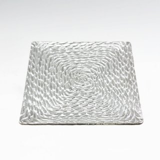 錫 銘々皿 角形縄 商品番号:1070-4/名入れ・マーク入れ 不可