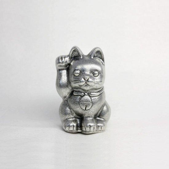 錫 置物 招き猫 イブシ加工 商品番号:181B-1