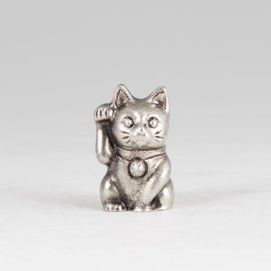 錫 置物 招き猫 イブシ加工 商品番号:181A-1