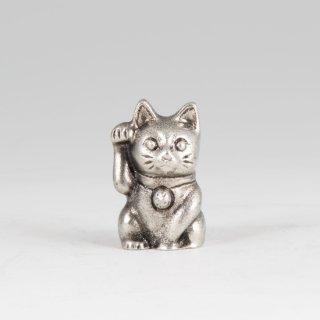 錫 置物 招き猫 イブシ加工 商品番号:181A-1/名入れ・マーク入れ 不可