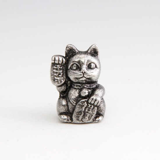 錫 置物 招き猫 イブシ加工 商品番号:181