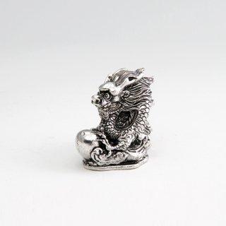 錫 置物 干支 辰 イブシ加工 商品番号:186-5/名入れ・マーク入れ 不可
